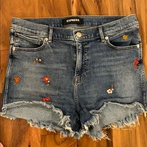 Express - High Waisted Denim Shorts